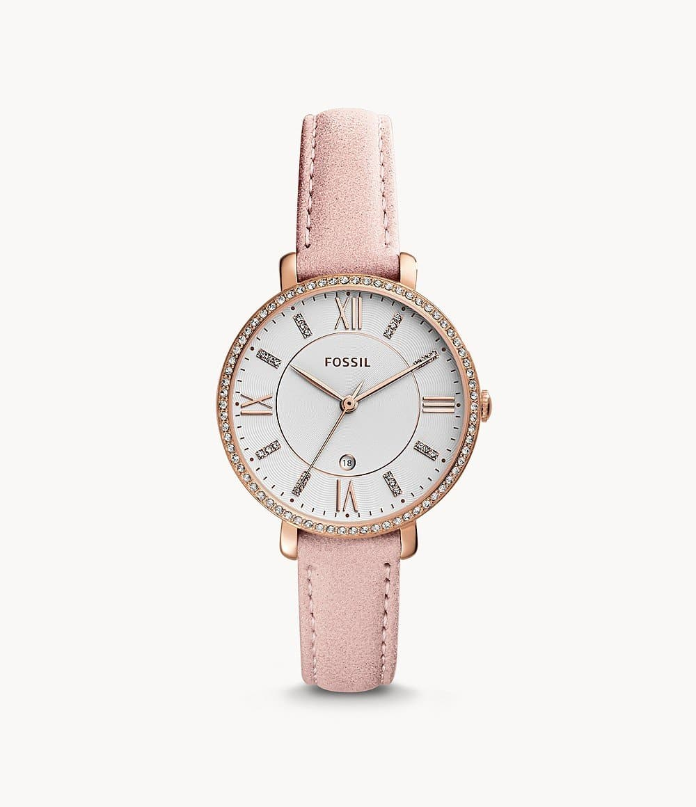 Fossil Jacqueline Three-Hand Date ES4303 Blush Leather Watch