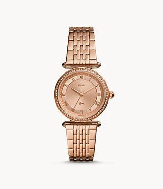 Fossil Lyric Three-Hand ES4711 Rose-Gold-Tone Stainless-Steel Watch