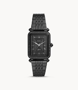 Fossil Women Lyric Three-Hand ES4722 Black Stainless-Steel