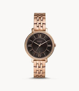 Fossil Jacqueline Three-Hand ES4723 Rose-Gold-Tone Stainless-Steel Watch