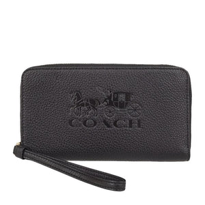 Coach Large Phone Case F75908 Wallet In Black