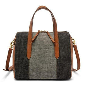 FOSSIL HANDBAG SYDNEY SATCHEL DENIM
