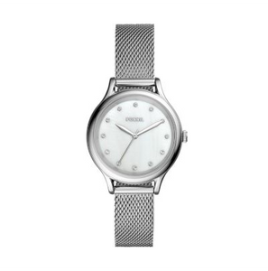 FOSSIL WATCH LANEY THREE-HAND  SILVER-TONE STAINLESS STEEL (BQ3390)