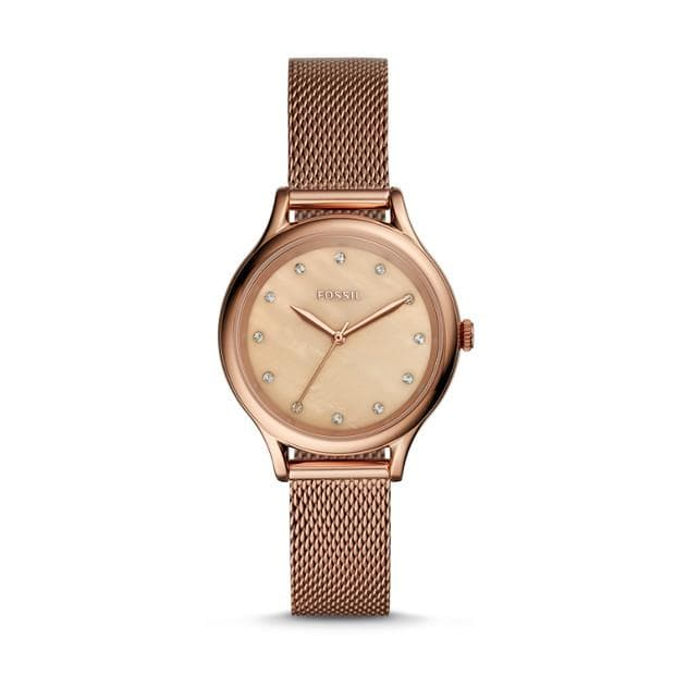 FOSSIL WATCH LANEY THREE-HAND ROSE GOLD-TONE STAINLESS STEEL (BQ3392)
