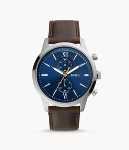 Fossil Townsman Chronograph FS5549 Brown Leather Watch