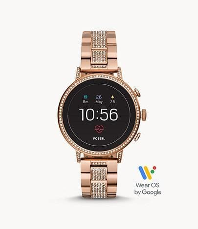 Fossil Women Gen 4 Smartwatch Venture HR FTW6011 In Rose Gold-Tone