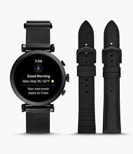 Load image into Gallery viewer, Fossil Women's Gen 4 Smartwatch Sloan HR FTW6055SET Milanese Black