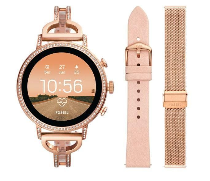 Fossil Gen 4 Smartwatch Venture HR Rose Gold-Tone (FTW6030 set)
