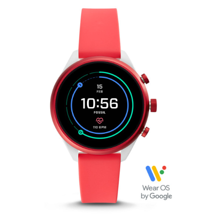Fossil Sport Smart Watch Silicon FTW6027 (Red)