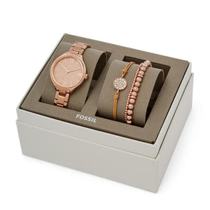 Fossil Watch Suitor Three-Hand Interchangeable Strap Box Set BQ3349SET