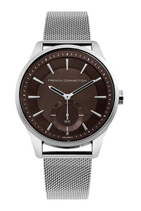French Connection Analog Brown Dial Men's Watch FC1333SM (Pre Order)