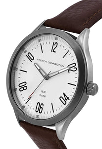(PREORDER) French Connection Analog White Dial Men's Watch FC1331T