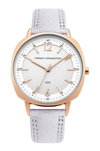 (PREORDER) French Connection Analog White Dial Women's Watch FC1327E