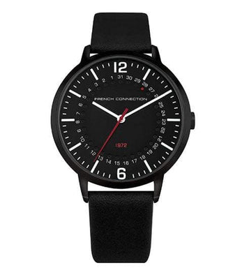 French Connection Mens Analogue Classic Quartz Watch with Leather Strap FC1277B (Pre Order)