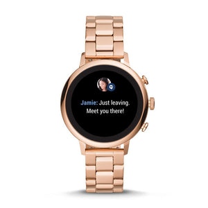 Fossil Women's Gen 4 Smartwatch Venture HR Rose Gold Tone BQT6000SET Interchangeable Strap Box Set