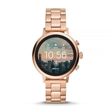 Load image into Gallery viewer, Fossil Women's Gen 4 Smartwatch Venture HR Rose Gold Tone BQT6000SET Interchangeable Strap Box Set