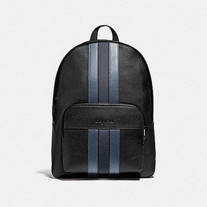 Coach Houston Backpack with Varsity Stripe F49324 In Black