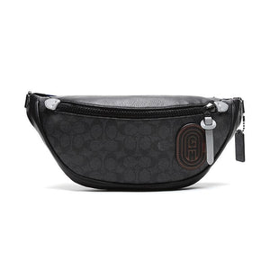 Coach Rivington Belt Bag 79037 With Signature Canvas With Coach Patch In Black