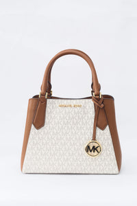 Michael Kors Small Kimberly 35F9GKFS1V Vanilla Satchel Bag