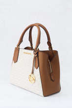 Load image into Gallery viewer, Michael Kors Small Kimberly 35F9GKFS1V Vanilla Satchel Bag