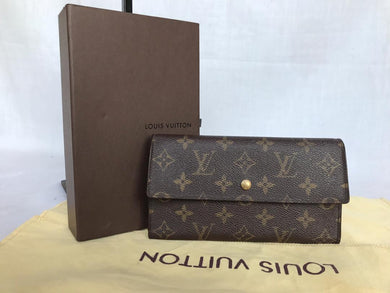 PRELOVED LOUIS VUITTON MONOGRAM SARAH TRIFOLD WALLET