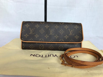 PRELOVED Louis Vuitton Monogram Twim Pochete Cross Body Bag