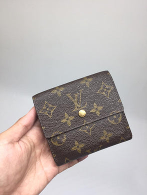 PRELOVED LOUIS VUITTON Portefeuille Trifold Elise with Coins Compartment