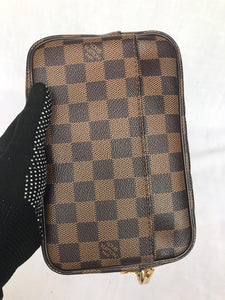 PRELOVED Louis Vuitton Damier Ebene Billet Macao Clutch Bag