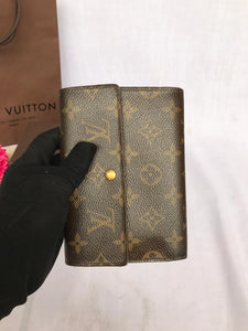 PRELOVED Louis Vuitton Mono Trifold Purse