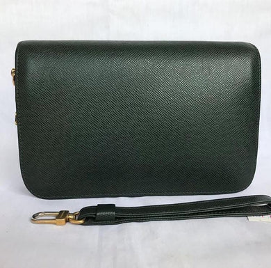 PRELOVED Louis Vuitton Baikal Taiga Dark Green Clutch Bag