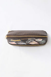 MICHAEL KORS ASPEN  LARGE MULTIFUNCTION  POUCH 35H9GPUU3B BROWN MULTI