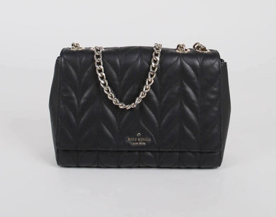 (Preloved) Kate Spade Large Emelyn Shoulder Bag In Black
