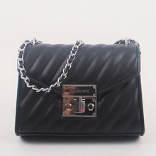 Load image into Gallery viewer, Michael Kors Small Rose 35F0SXOC5T Flap Shoulder Bag In Black