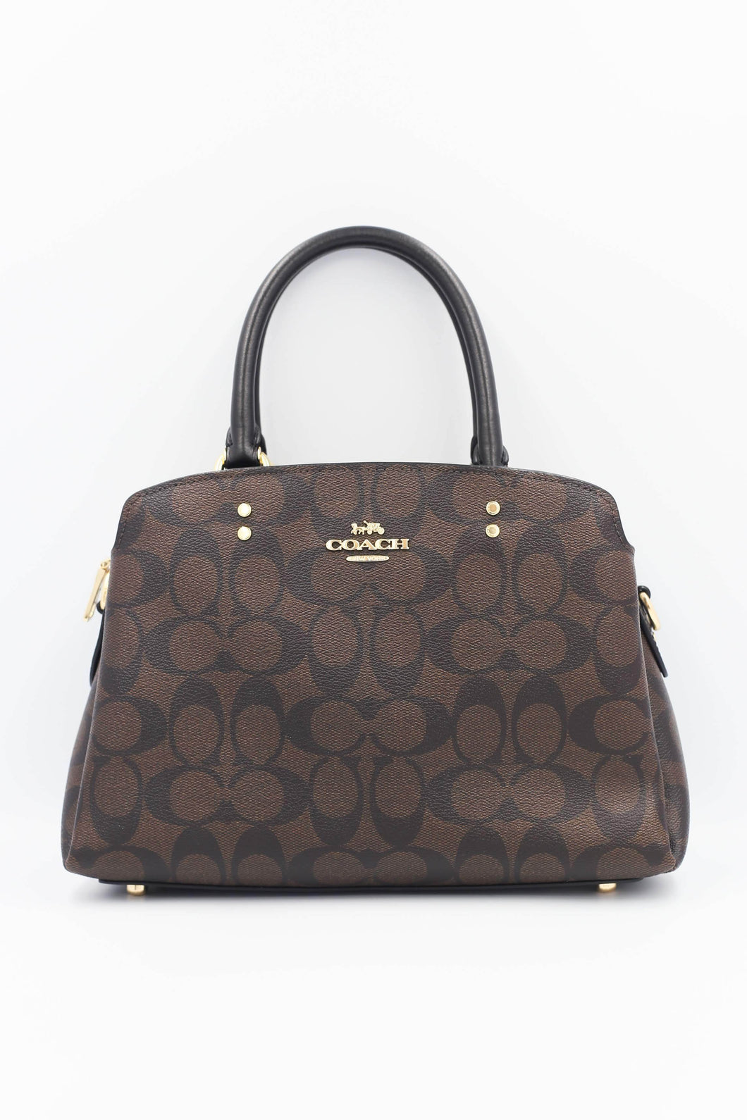 Coach Signature Mini Lillie Carryall Bag 91494 In brown Black