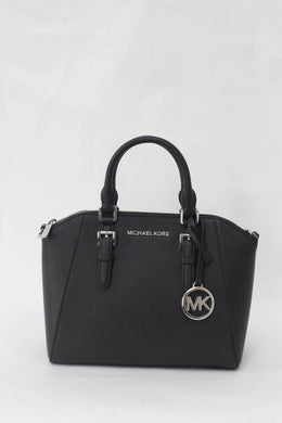 Michael Kors Ciara Medium Messenger Satchel Bag 35S8SC6M2L In Black