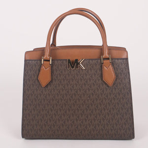 Michael Kors Mott 35T0GOXS7B Large Satchel Bag In Brown Acorn