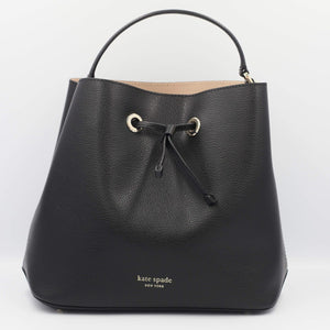 Kate Spade Eva Large Bucket WKRU5856 In Black Warmbeige