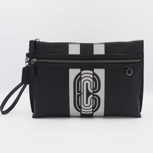 Coach Sporty Pouch With Reflective Coach patch 91272 In Midnight