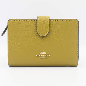 Coach Medium Corner Zip Wallet 11484 In Citron