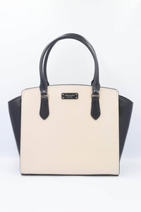 Kate Spade Jeanne Medium Satchel WKRU6043 In warmbeige/black (195)