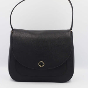 Kate Spade Kailee Medium Flap Shoulder Bag WKRU6487 In Black (001)