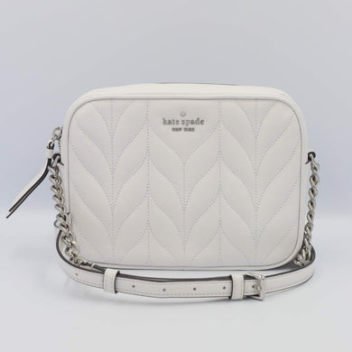 Kate Spade Briar Lane Quilted Camera Bag WKRU6386 In Optic White