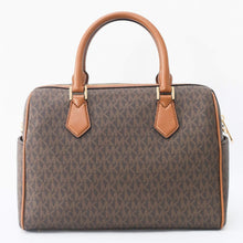Load image into Gallery viewer, Michael Kors Bedford Large Duffle Satchel Bag 35F9GBFU3B In Brown Acorn