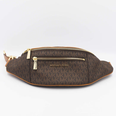 Michael Kors Mott Medium Waistpack Belt Bag 30S9GOXN6B In Brown Acorn