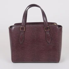 Load image into Gallery viewer, Tory Burch Mini Emerson 78365 Embossed Top Zip Satchel In Imperial Garnet
