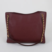 Load image into Gallery viewer, Tory Burch Small Britten 73503 Slouchy Tote Bag In Imperial Garnet