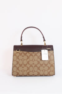 Coach Tilly Top Handle Signature F80230 IME7V In Khaki Multi