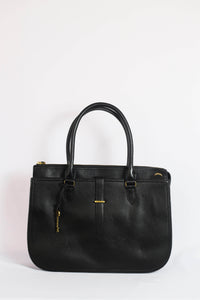 Fossil Ryder Work Bag In Black Leather