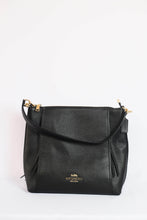 Load image into Gallery viewer, Coach Marlon Hobo F79994 IMBLK In Black Leather