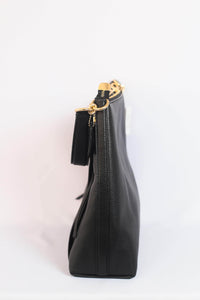 Coach Marlon Hobo F79994 IMBLK In Black Leather